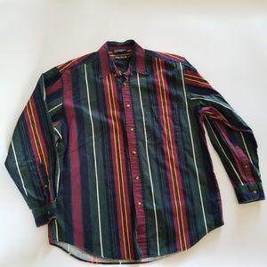 VTG 90s Nautica Colorblock Button down Shirt Men L